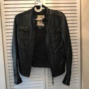 Mango Leather riding Jacket